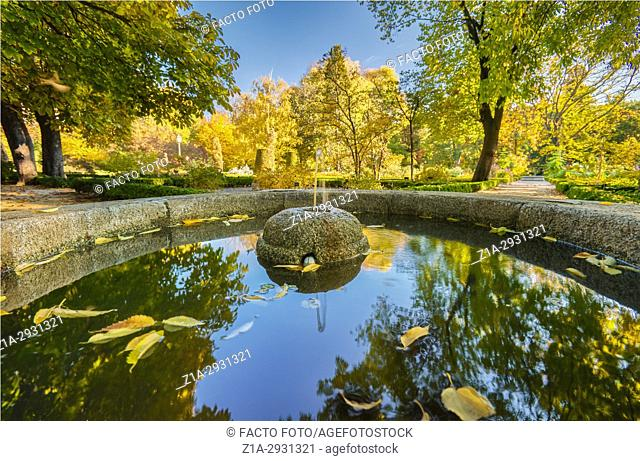 Autumn at the Royal Botanical Garden. Madrid. Spain