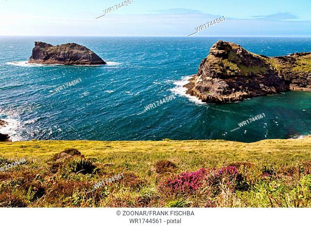 Coastline at Cornish coast near Boscastle, Cornwal