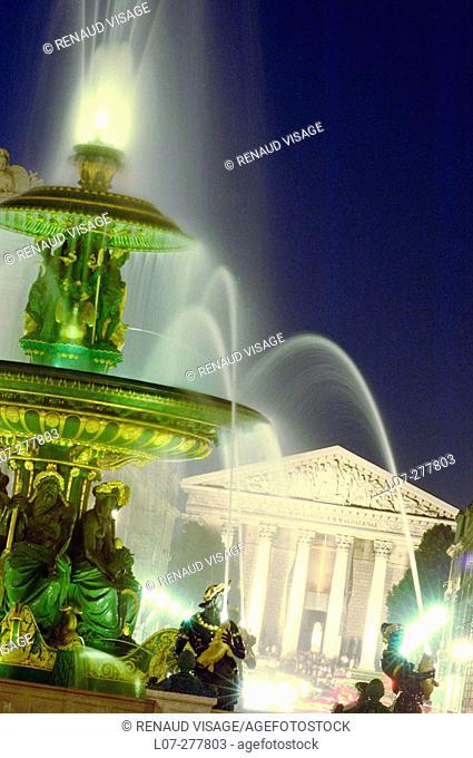 Fountain at Place de la Concorde. Paris. France