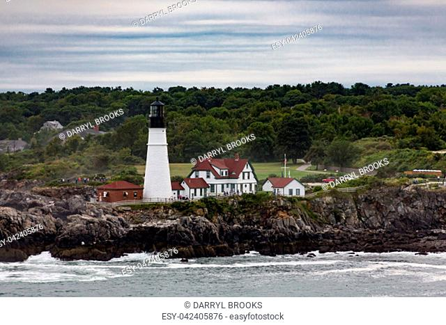 The Famous Portland Head Lighthouse near Portland, Maine