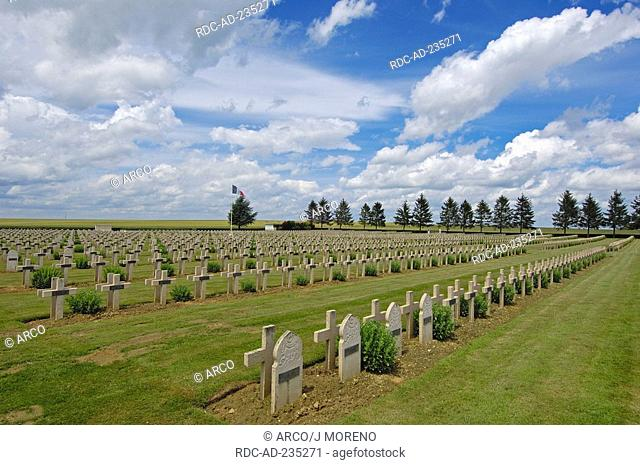 Cemetery of soldiers, Soissons, Picardy, France, First World War, I World War, war graves