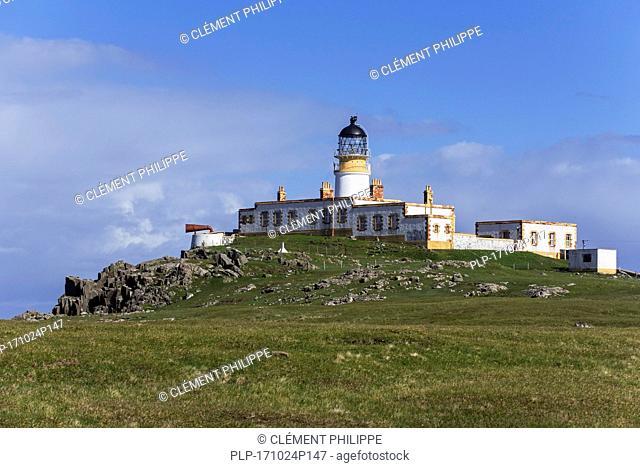 Neist Point Lighthouse on the Isle of Skye, Inner Hebrides, Scottish Highlands, Scotland, UK