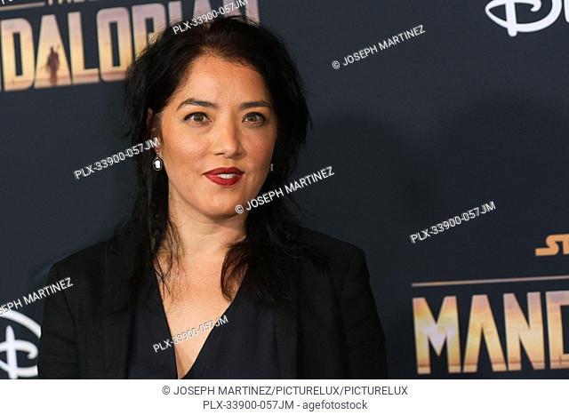 "Deborah Chow at """"The Mandalorian"""" Premiere held at El Capitan Theatre in Hollywood, CA, November 13, 2019. Photo Credit: Joseph Martinez / PictureLux"