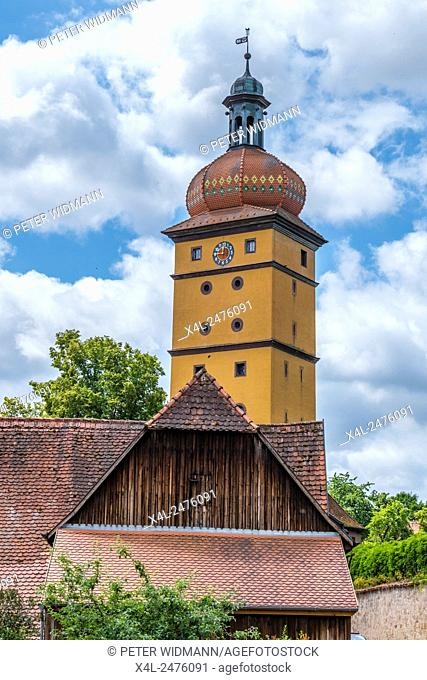 Segeringer Gate, Dinkelsbuhl, Romantic Road, Middle Franconia, Bavaria, Germany
