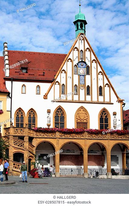 Town hall in Amberg. Bavaria
