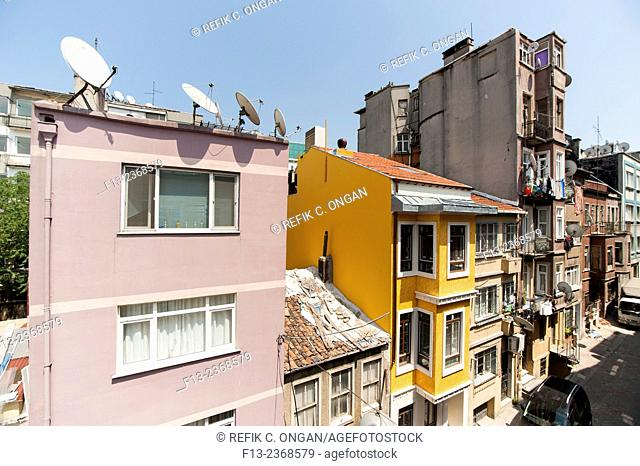 old style building in Istanbul,Pera
