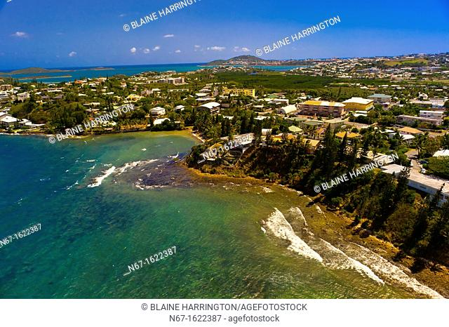 Aerial View, Coastline, Noumea, Grand Terre, New Caledonia