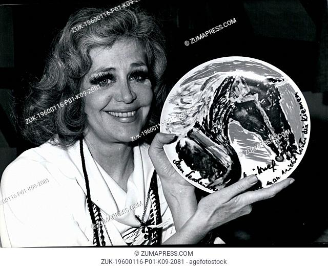 1975 - Hildegard Knef is a paintress also: Hildegard Knef, the German actress, author, singer and song-writer, has now proved that she is a pretty good...