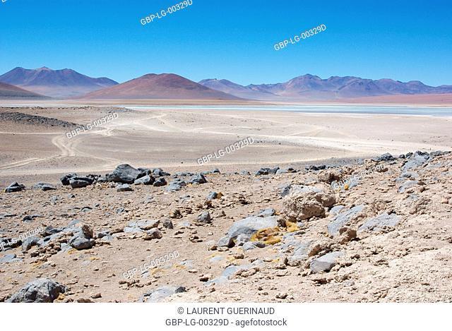 Laguna Blanca, Desert of Lipez, Department of Potosi, Sud Lipez Province, La Paz, Bolívia