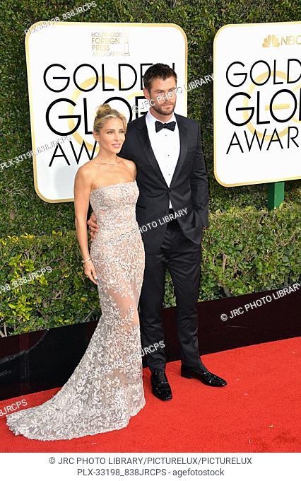 Chris Hemsworth & Elsa Pataky at the 74th Golden Globe Awards at The Beverly Hilton Hotel, Los Angeles, CA , USA , January 8, 2017