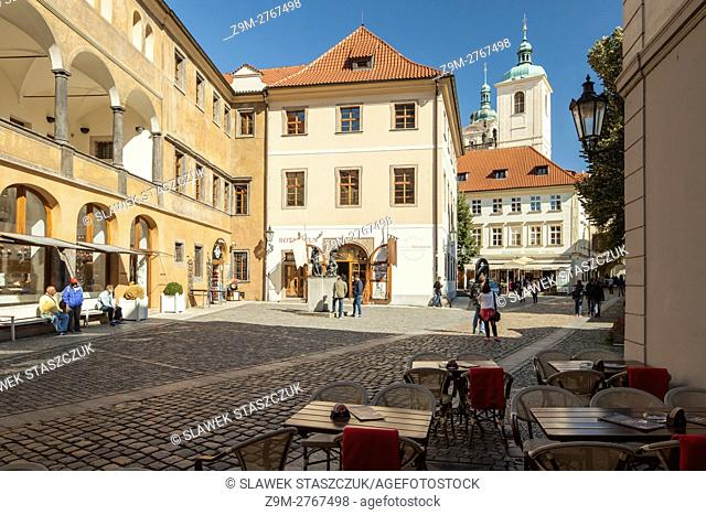 Sunny day in Prague old town, Czech Republic