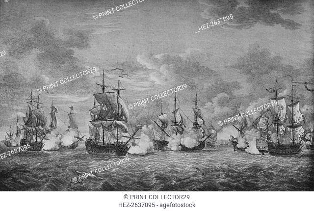 'The Battle of Cap-Franþais', c1760. Artist: Richard Paton