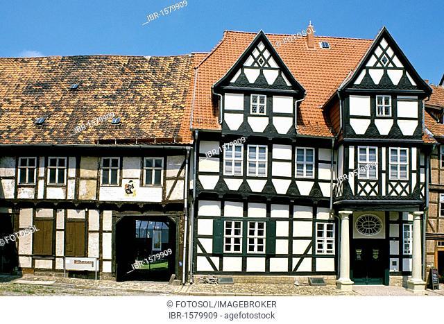 Klopstock House, Castle Square, Quedlinburg, Harz, Saxony-Anhalt, Germany, Europe