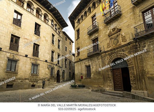Town Hall in Sos del Rey Catolico. Zaragoza. Aragon. Spain. Europe