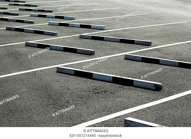 Empty parking lot, The concrete boundary for safety parking