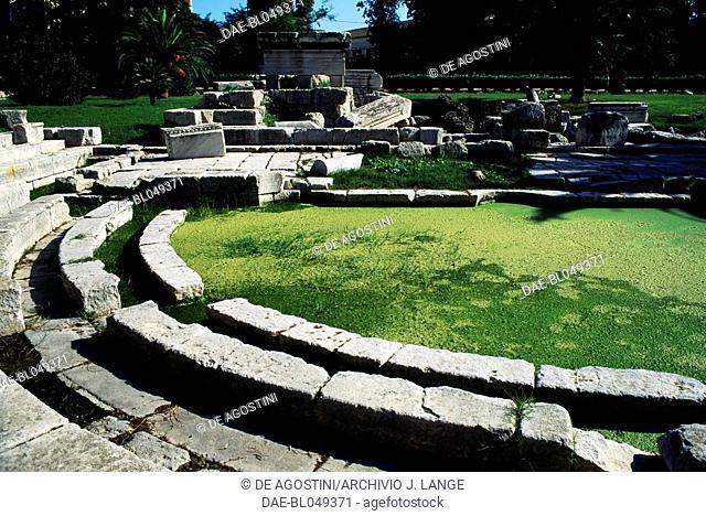 Gymnasium of Syracuse (UNESCO World Heritage List, 2005), Sicily, Italy. Roman civilisation, 1st century AD