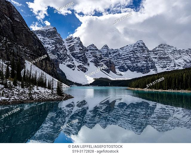 Canadian Rockies. Moraine Lake Reflection