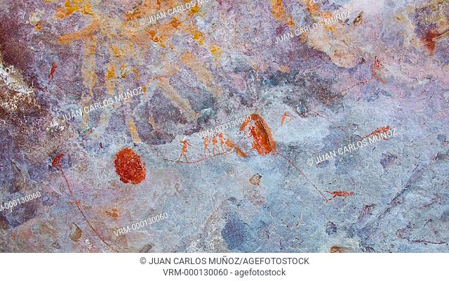 Rock Art Painting, Clanwilliam, Cederberg Mountains, Western Cape province, South Africa, Africa