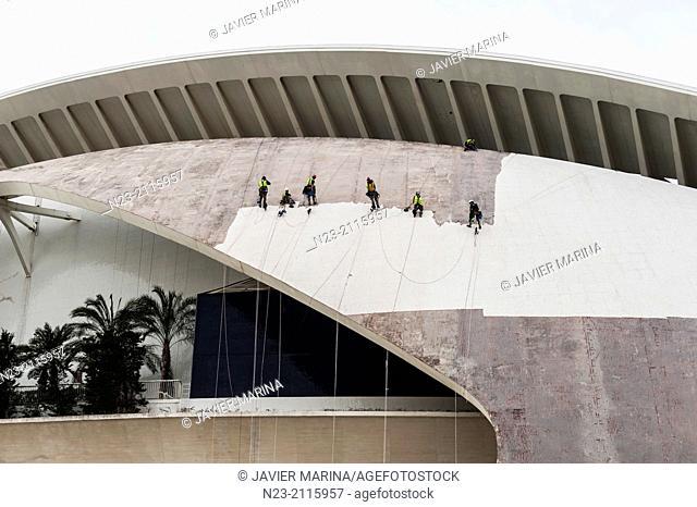 Palau arts under restoration, Valencia, Spain