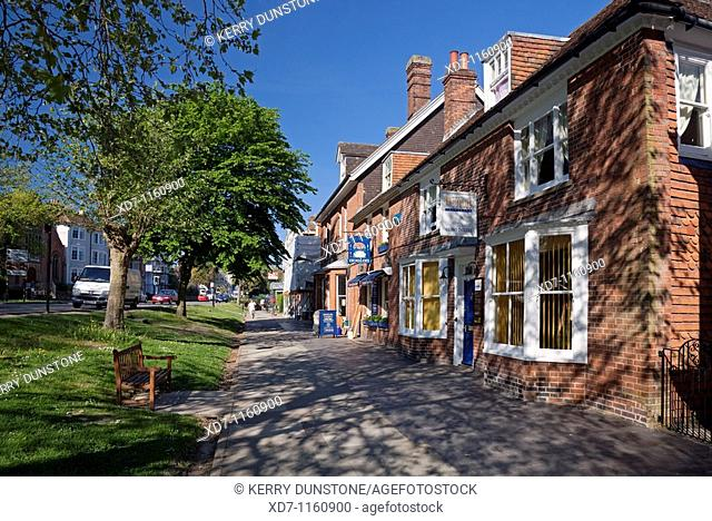 England Kent Tenterden West Cross Traditional houses and shops on the High Street
