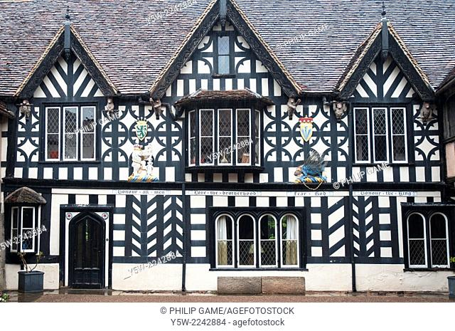 Masters House at the Lord Leycester Hospital, a centuries-old retirement home for ex-servicemen in Warwick, England