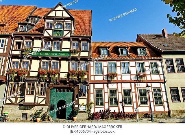 Historic building ensemble, Quedlinburg, UNESCO World Heritage Site, Saxony-Anhalt, Germany, Europe