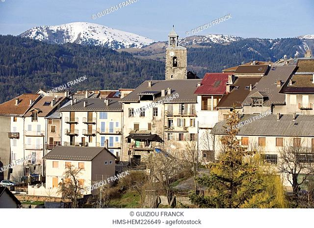 France, Alpes de Haute Provence, Seyne les Alpes