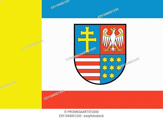 Flag of Swietokrzyskie Voivodeship, Poland. Vector Format