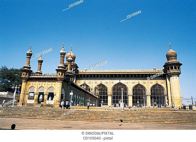 Mecca mosque. Hyderabad. Andhra Pradesh, India