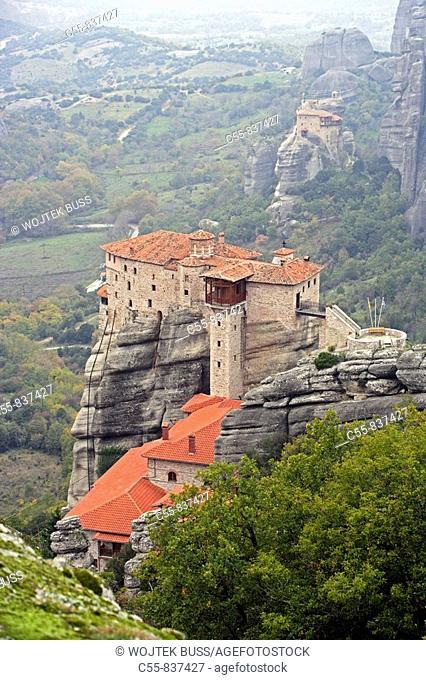 Greek Orthodox Monastery of Rousanou or St Barbara,Meteora,Thessaly,Greece