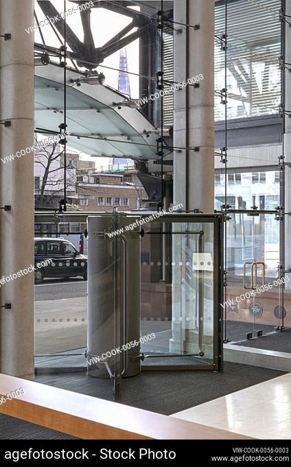Friday Street entrance from interior. Bracken House, London, United Kingdom. Architect: John Robertson Architects, 2019