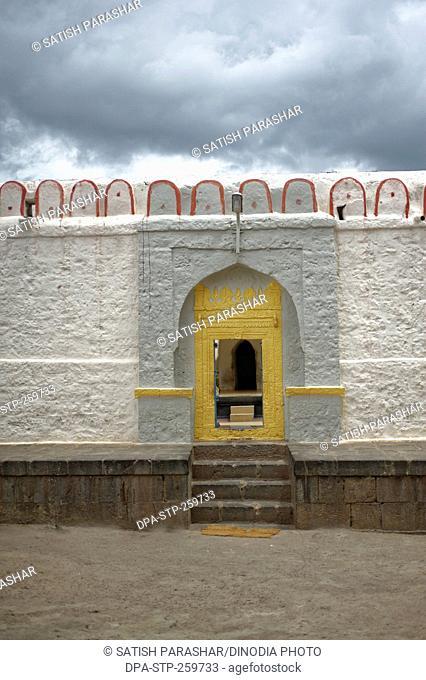 entrance of Bhramnath mandir, Jain ashram, kagwad, belagavi, karnataka, India, Asia
