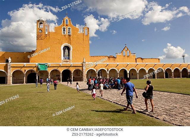 Monastery, Convent Of San Antonio De Padua, Izamal, Yucatan, Yucatan Province, Mexico, North America