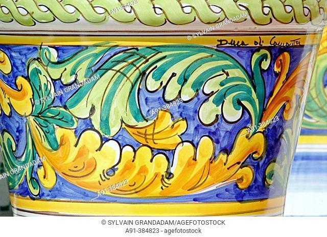 San Stefano di Camastra village on North coast famous for its ceramic . Sicily. Italy