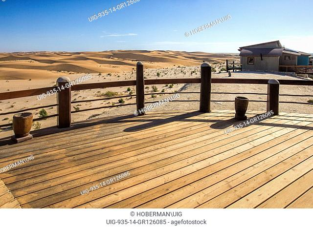 Wooden Deck at Desert Breeze In Namibia