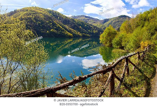 Ibai-Eder Reservoir, Ibaider River, Nuarbe, Gipuzkoa, Basque Country, Spain