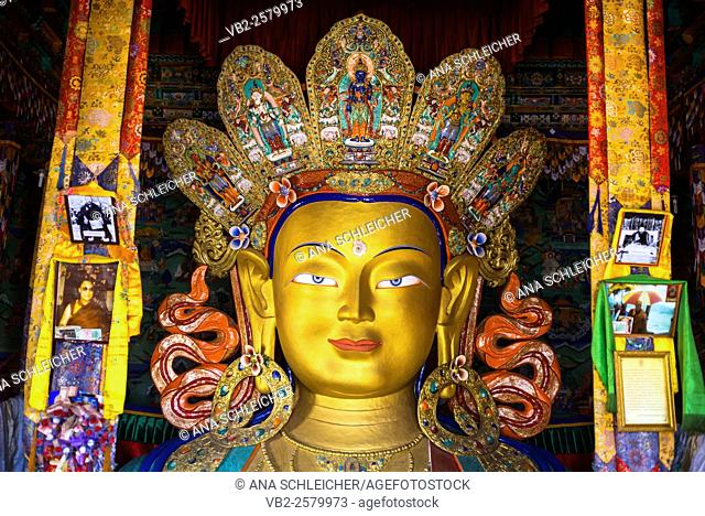 Giant Buddha at Thicksay gompa, Ladakh, India