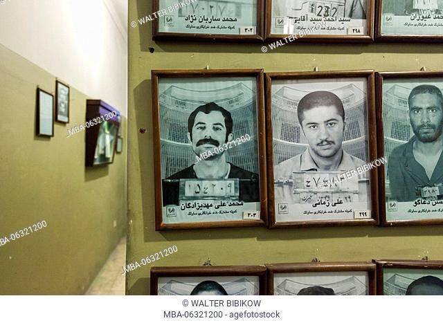 Iran, Tehran, Iran Ebrat Museum, former political prison of the Shah's secret police, SAVAK, photographs of former prisoners