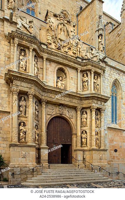 Spain, Catalonia, Tarragona Province, Montblanch City, San Maria la Major Church, Barroc,