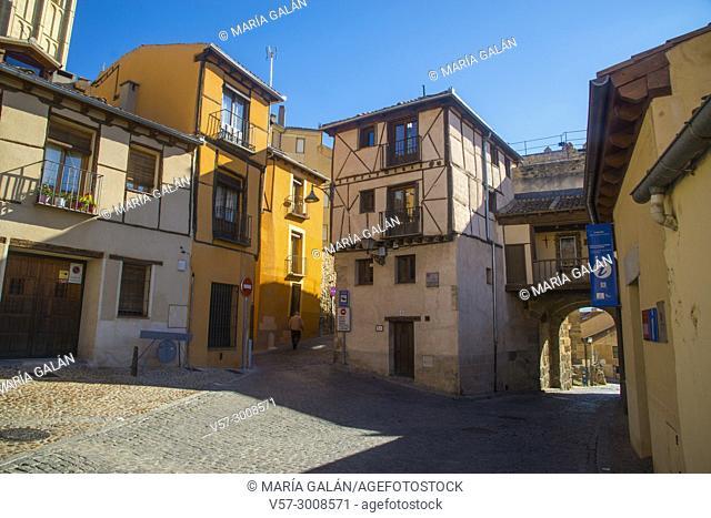 Plazuela del Socorro. Juderia, Segovia, Spain