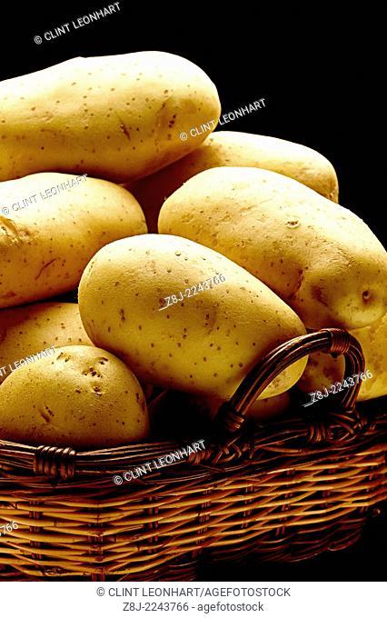 potatoes in basket