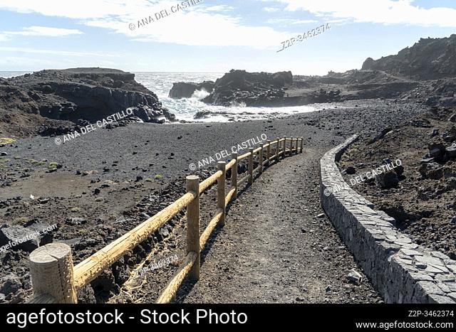 Caleta Alta Atlantic ocean in La Palma island Canary islands Spain