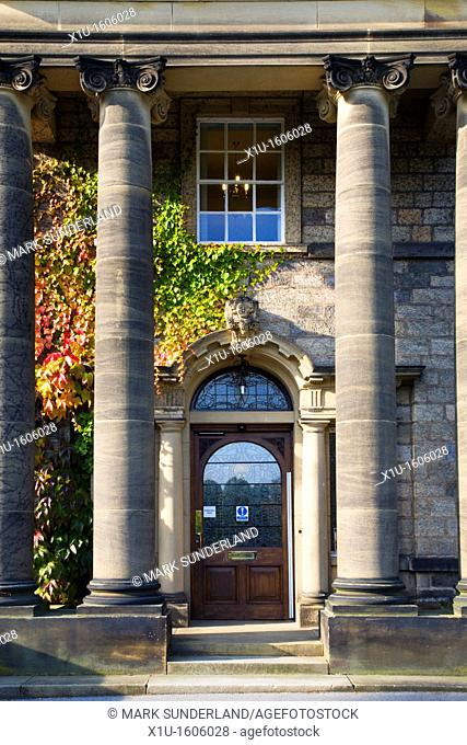 Ionic Columns at Conyngham Hall Knaresborough North Yorkshire England