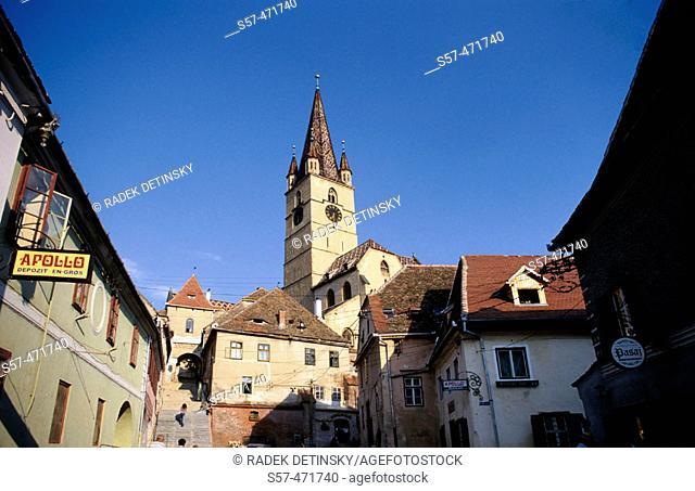 architecture, town Sibiu, Transylvania, Romania