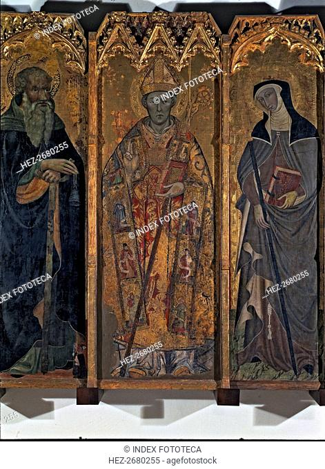 Altarpiece of Saint Nicholas, Saint Claire and Saint Anthony. Central table with the images of sa?