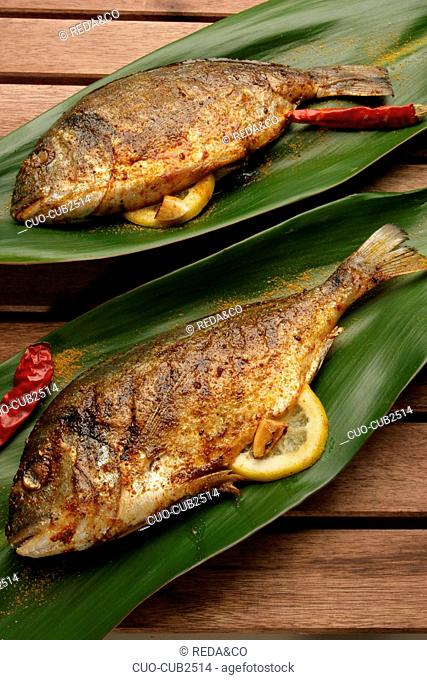 Gilthead bream with spices, Italy