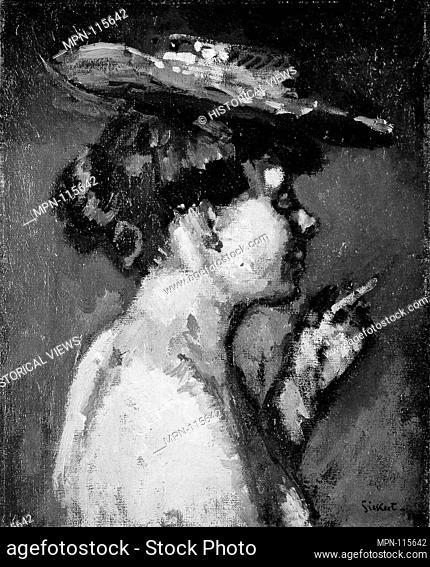 The Cigarette (Jeanne Daurmont). Artist: Walter Richard Sickert (British, Munich 1860-1942 Bathampton, Somerset); Date: 1906; Medium: Oil on canvas; Dimensions:...