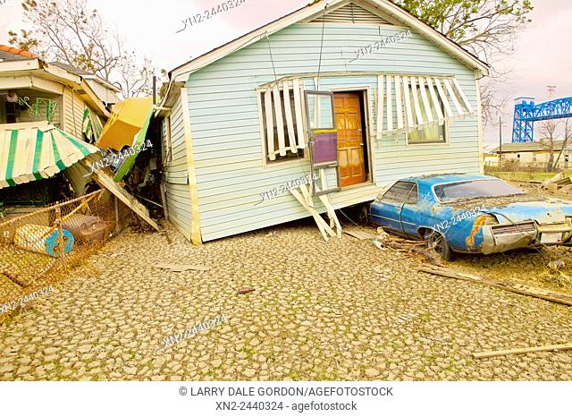 Hurricane Destruction. New Orleans, Louisiana, USA