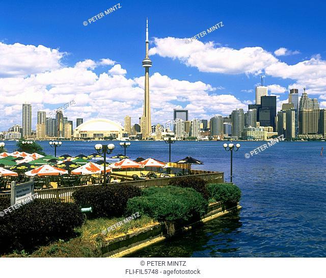 Skyline and Restaurant Patio, Toronto, Ontario