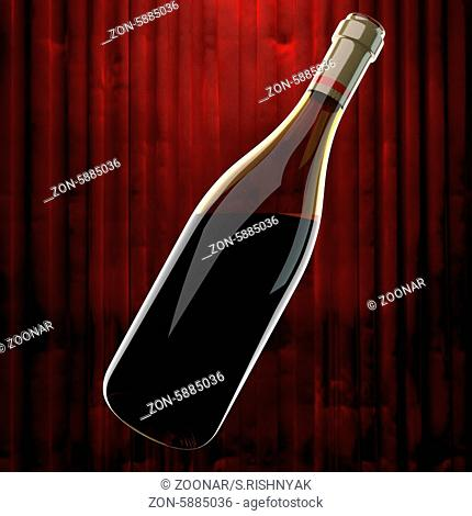 red wine and red curtain